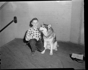 Boy with his dog, Eastern Dog Club