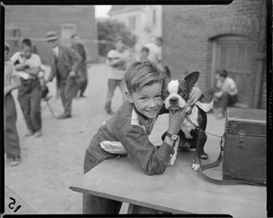 Boy with terrier