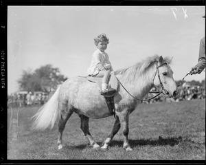 Child on pony