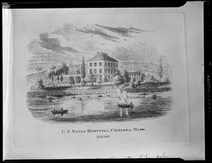 Print of US Naval hospital, Chelsea (1836)