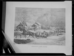 N. Currier Lithograph: American Farm Scenes, 1853