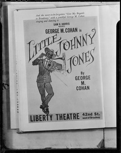 "Poster for ""Little Johnny Jones"" with George M. Cohan"