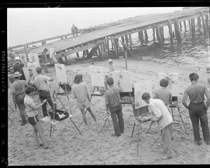 Artists paint scene in Provincetown