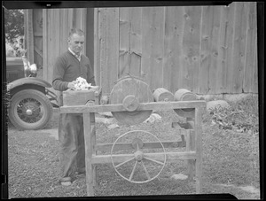 Original model of Eli Whitney's cotton gin which Westborough H.S. would like Governor Curley to purchase.