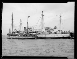 U.S. Navy seaplane aboard Comm. Byrd's polar ship the SS Bear of Oakland, Boston Harbor