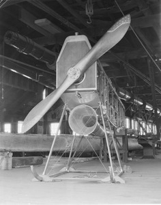 Airplane under construction, Pigeon Hollow Spar Co., East Boston