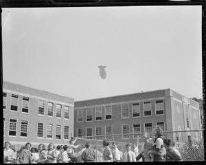 Zeppelin over school