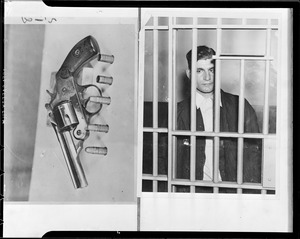 Criminal in cell and gun