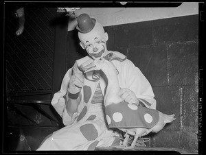 Clowns in town with circus