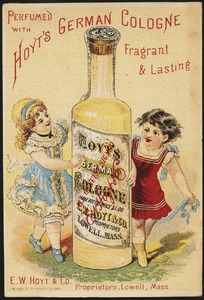 Perfumed with Hoyt's German Cologne, fragrant & lasting