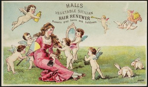 Hall's Vegetable Sicilian Hair Renewer prevents gray hairs and baldness