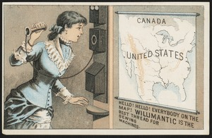 Canada, United States. Hello! Hello! Everybody on the map! Willimantic is the best thread for sewing machines.