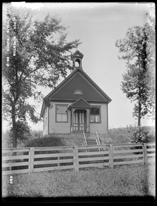 Wachusett Reservoir, Roman Catholic Church (P. T. O'Reilly), from the east, Boylston, Mass., Jul. 31, 1896
