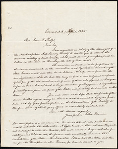 Letter from John Farmer, Concord, N.H., to Amos Augustus Phelps, 7 April, 1835