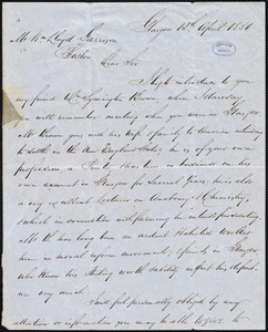 Letter from Andrew Paton, Glasgow, [Scotland], to William Lloyd Garrison, 13th April 1850