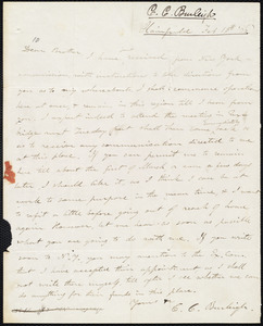 Letter from Charles Calistus Burleigh, Plairfield, to Amos Augustus Phelps, Feb 28th '36