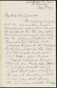 Letter from Elizabeth Swan Mawson, [Gateshead, England], to William Lloyd Garrison, Feb[ruary] 7th 1870