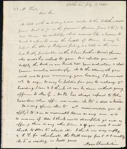 Letter from Moses Chamberlain, Hopkinton, to Amos Augustus Phelps, July 11. 1832