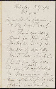 Letter from Rebecca Moore, St. Asaph, [Wales], to William Lloyd Garrison and Francis Jackson Garrison, Oct[ober] 17. 1877