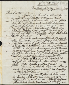 Letter from Henry Brewster Stanton, New York, [N.Y.], to Amos Augustus Phelps, June 1st 1839