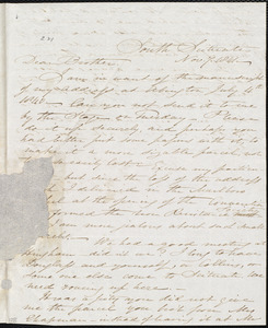 Letter from Samuel Joseph May, South Scituate, [Mass], to William Lloyd Garrison, Nov[ember] 7. 1841