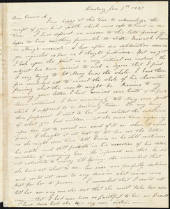 Letter from Parentha Bodwell, Simsbury, to Amos Augustus Phelps, Jan 7th 1827