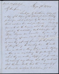 Letter from Andrew Paton, Glasgow, [Scotland], to William Lloyd Garrison, 4th Feb[ruary] 1851