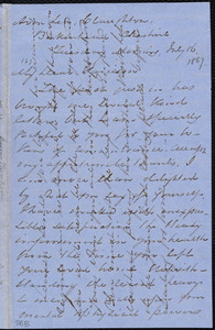 Letter from Andrew Paton, Birkenhead, [England], to William Lloyd Garrison, July 16 [1867]