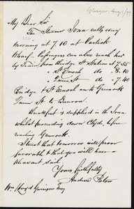Letter from Andrew Paton, [Glasgow, Scotland], to William Lloyd Garrison, [August 1, 1877]