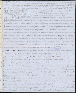 Letter from Anna Paul, Northampton, [Mass.], to William Lloyd Garrison, July 1850