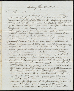 Letter from Milton Metcalf Fisher, Medway, to Amos Augustus Phelps, Aug 30. 1845