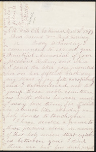 Letter from Prudence Crandall, Elk Falls, [Kan.], to William Lloyd Garrison, April 20th 1879
