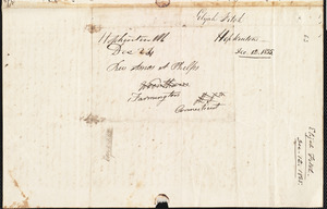 Letter from Elijah Fitch, Hopkinton, to Amos Augustus Phelps, December 12th 1834