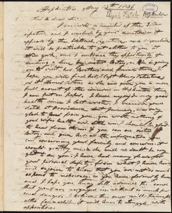 Letter from Elijah Fitch, Hopkinton, to Amos Augustus Phelps, May 13th 1836