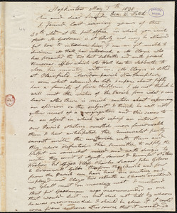 Letter from Elijah Fitch, Hopkinton, to Amos Augustus Phelps, May 5th 1838