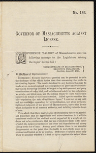 Governor of Massachusetts against license
