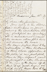 Letter from Samuel Johnson, N[orth] Andover, [Mass.], to William Lloyd Garrison, Jan[uary] 15. [18]79