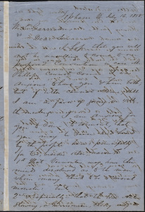 Letter from Nathan Robinson Johnston, Topsham, Vt., to William Lloyd Garrison, July 16, 1858