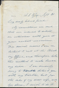 Letter from Isaac Knapp, [Boston, Mass.], to William Lloyd Garrison, [October 1, 1841]