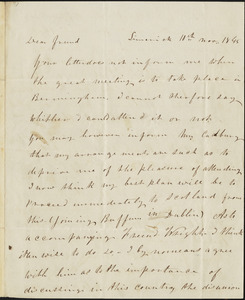 Letter from Frederick Douglass, Limerick, [Ireland], to Richard Davis Webb, 10th, Nov., 1845