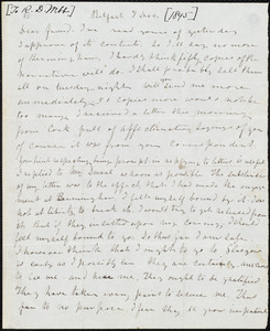 Letter from Frederick Douglass, Belfast [Ireland], to Richard Davis Webb, 7 Dec. [1845]