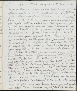 Letter from Frederick Douglass, Belfast [Ireland], to Richard Davis Webb, 20th, Dec-1845
