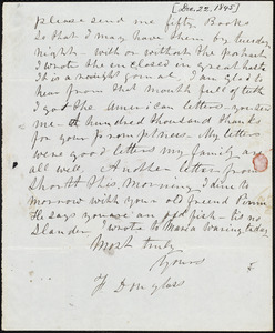 Letter from Frederick Douglass, Belfast [Ireland], to Richard Davis Webb, [December 20, 1845]