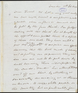 Letter from Frederick Douglass, Dundee [Scotland], to Richard Davis Webb, 10th Feb. 1846