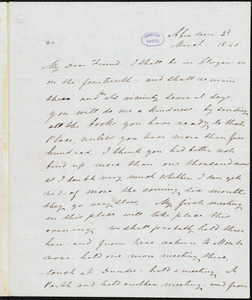 Letter from Frederick Douglass, Aberdeen [Scotland], to Richard Davis Webb, 2d March 1846