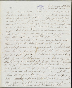 Letter from Frederick Douglass, Kilmarnock (Scotland), to Richard Davis Webb, 29 March 1846