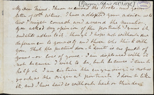 Letter from Frederick Douglass, [Glasgow [Scotland], to Richard Davis Webb, [April 16? 1846]