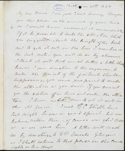 Letter from Frederick Douglass, Perth [Scotland], to Richard Davis Webb, Jan 20th 1846