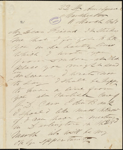 Letter from Frederick Douglass, London, to Elizabeth Pease Nichol, 11 March 1847
