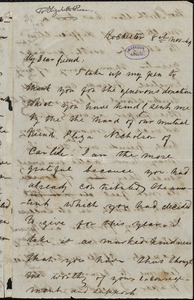 Letter from Frederick Douglass, Rochester [N.Y.], to Elizabeth Pease Nichol, 8th Nov. [18]49
